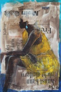 Sarah Mixed Media auf Leinwand 60 x 90 cm | Regina Wiechern